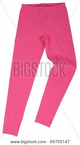 Pink Sweatpants Isolated On White Background