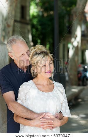 Mature Couple Sharing A Tender Moment