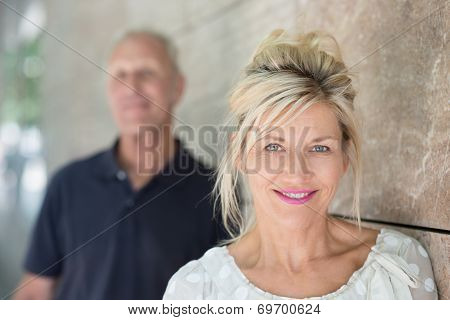 Smiling Friendly Middle-aged Woman
