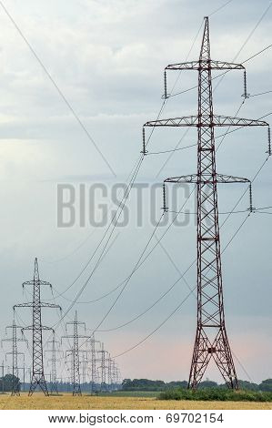 High-voltage Power Lines.