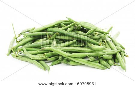 French beans isolated on white