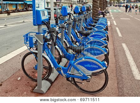 City Of Nice, France - Public Bicycles Sharing Station