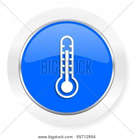 thermometer blue glossy web icon