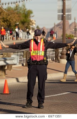 Traffic Control Police at the Arizona   Ironman Triathlon