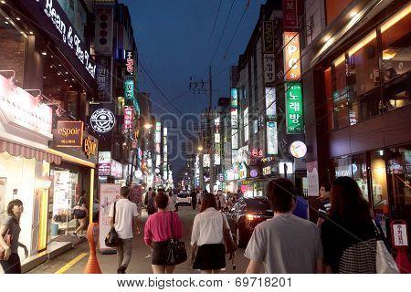 Seoul, South Korea; street scene