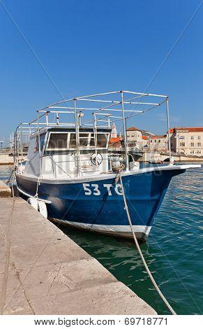 Fishing Boat At Waterfront Of Trogir, Croatia