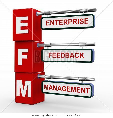 3D Modern Signboard Of Efm