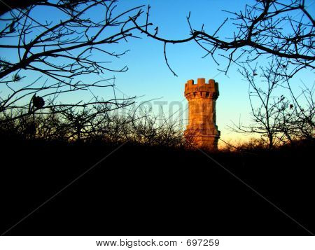 The Jenny Lind Tower At Sunset