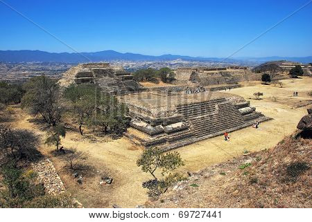 Aerial view of Monte Alban Ruins