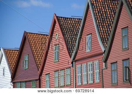 Bryggen, landmark of Bergen in Norway