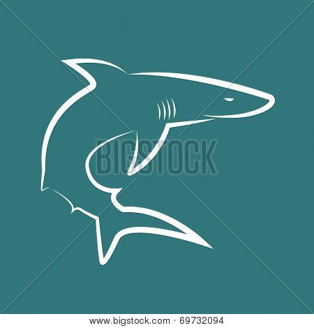 Vector Image Of Sharks