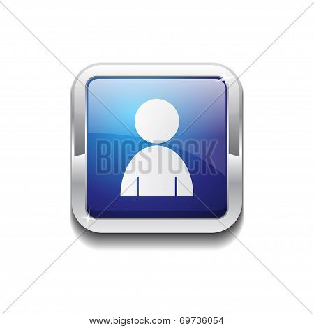 User Rounded Corner Vector Blue Web Icon Button
