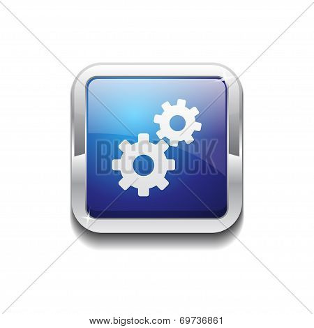 Settings Rounded Corner Vector Blue Web Icon Button