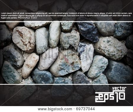 eps10 vector wall of rocks concept background