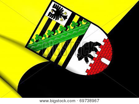 Flag Of Saxony-anhalt, Germany.