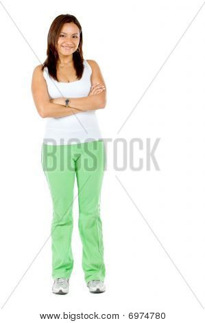 Woman Wearing A Tracksuit
