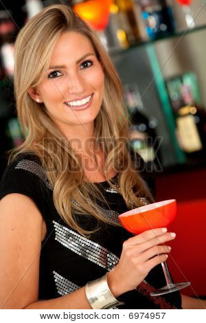 Woman At The Bar