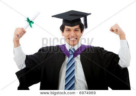 Happy Graduated Man
