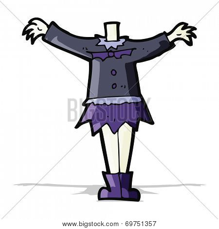 vampire body (mix and match cartoons or add own photo)