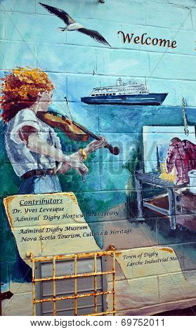 Mural tell story of acadians people