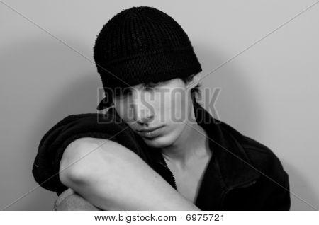 Guy In A Knitted Cap
