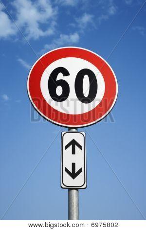 European Speed Limit Sign