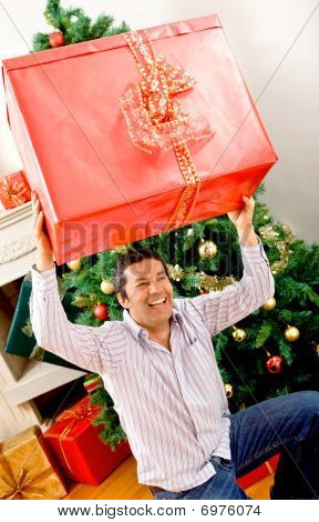 Man With A Christmas Present