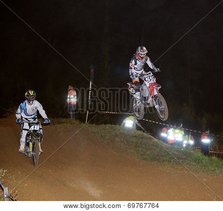Motocross In Pola De Siero, Asturias, Spain..