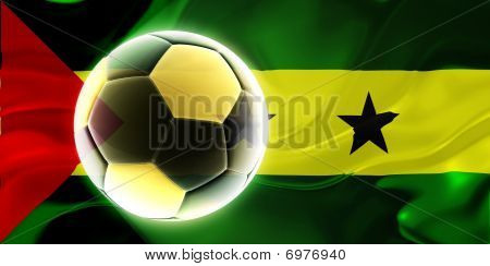 Flag Of Sao Tome And Principe Wavy Soccer
