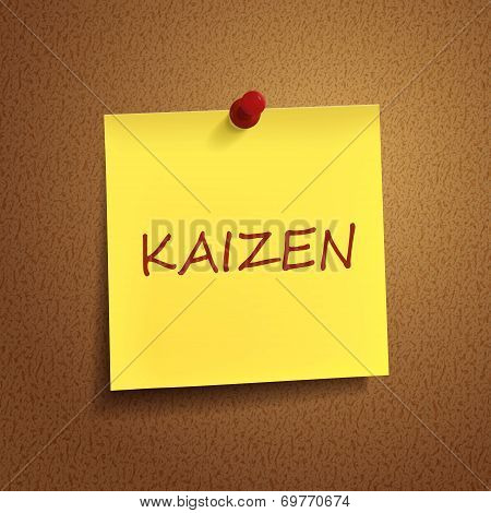 Kaizen Word On note