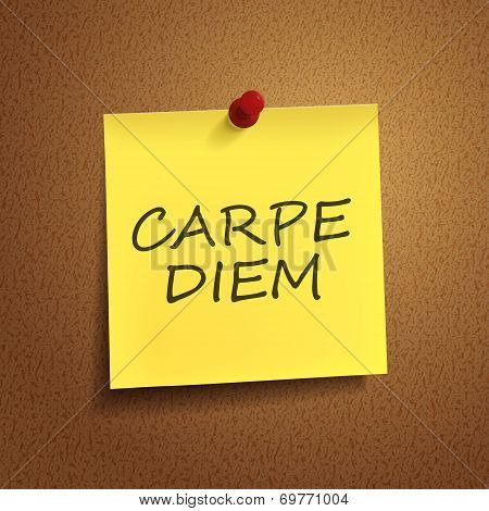 Carpe Diem Words On  note