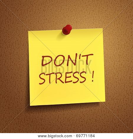 Do Not Stress Words On note