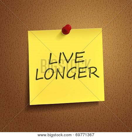 Live Longer Words On note