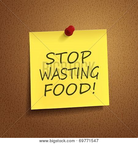 Stop Wasting Food Words On note