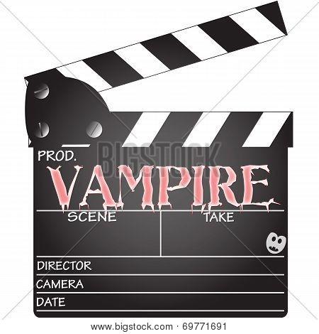 Vampire Clapper Board