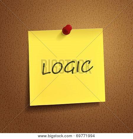 Logic Word On sticky note
