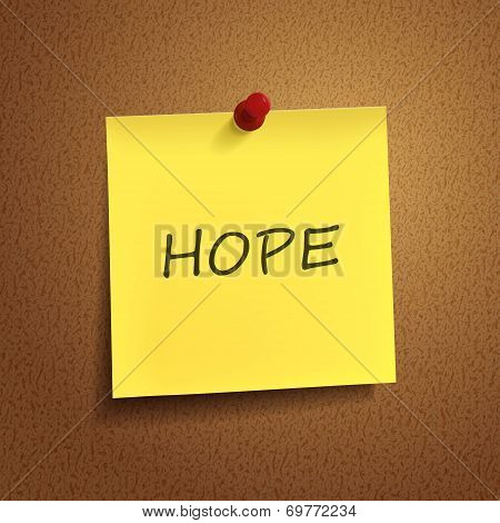 Hope Word On note paper