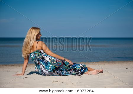 young summer woman on the beach