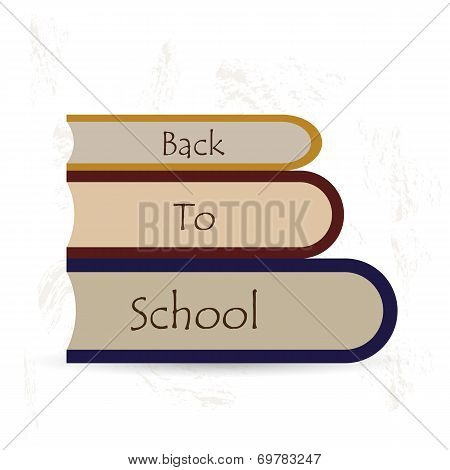 back to school book background smudges vector