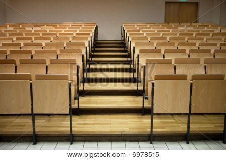 Rows in a lecture room