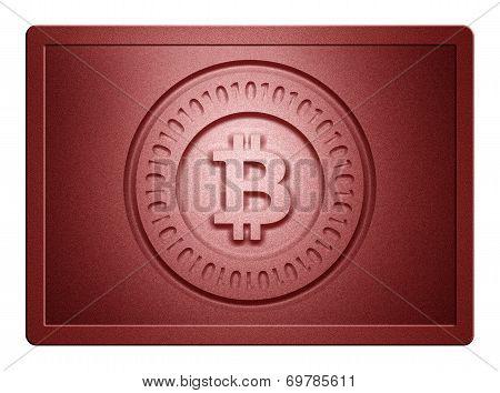 Red Metallic Bitcoin Plate