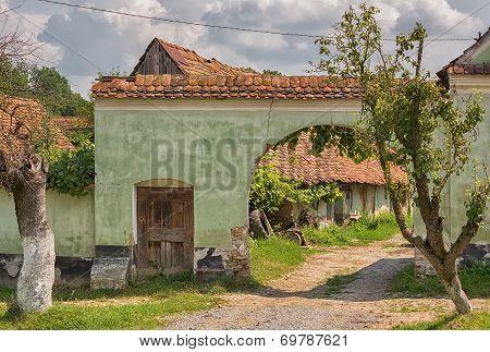 Rural village in Transylvania.