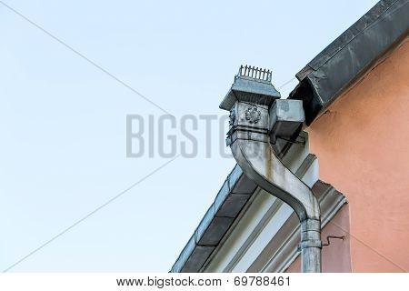 Old Rooftop Gutter