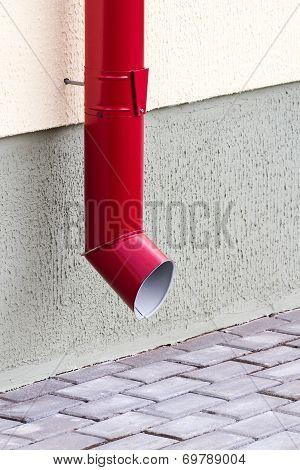 New Red Drainpipe