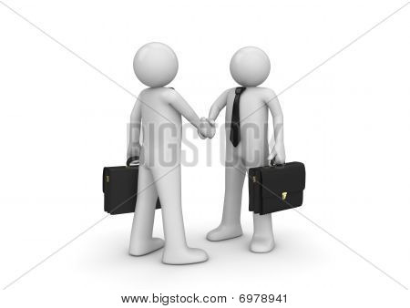 Handshaking Two Businessmen