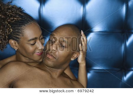 Attractive Young Couple Sharing A Tender Moment