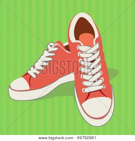 sports shoes - flat design vector