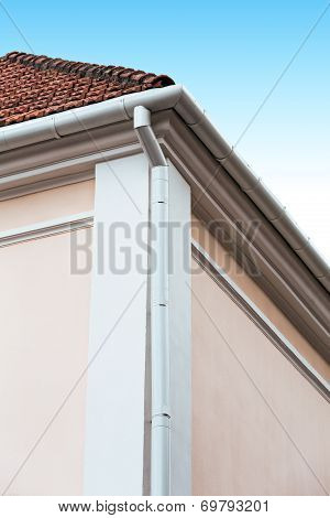 House Corner With Gutter
