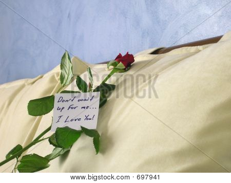 Love Note On Pillow 2