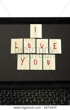 I Love You Notes On Computer